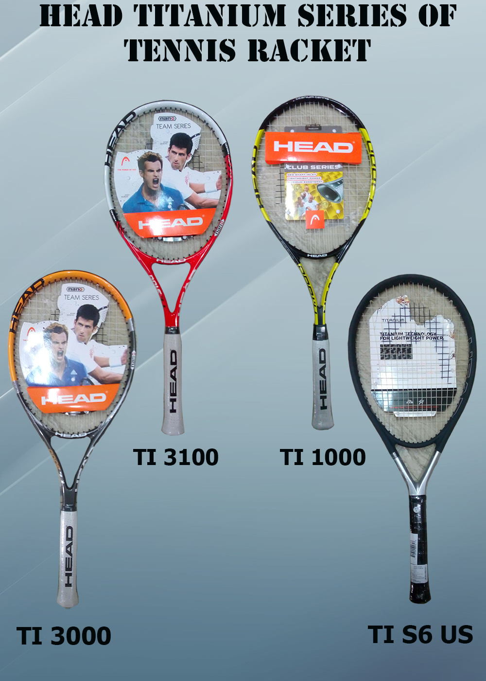 HEAD TITANIUM SERIES OF TENNIS RACKETS_1