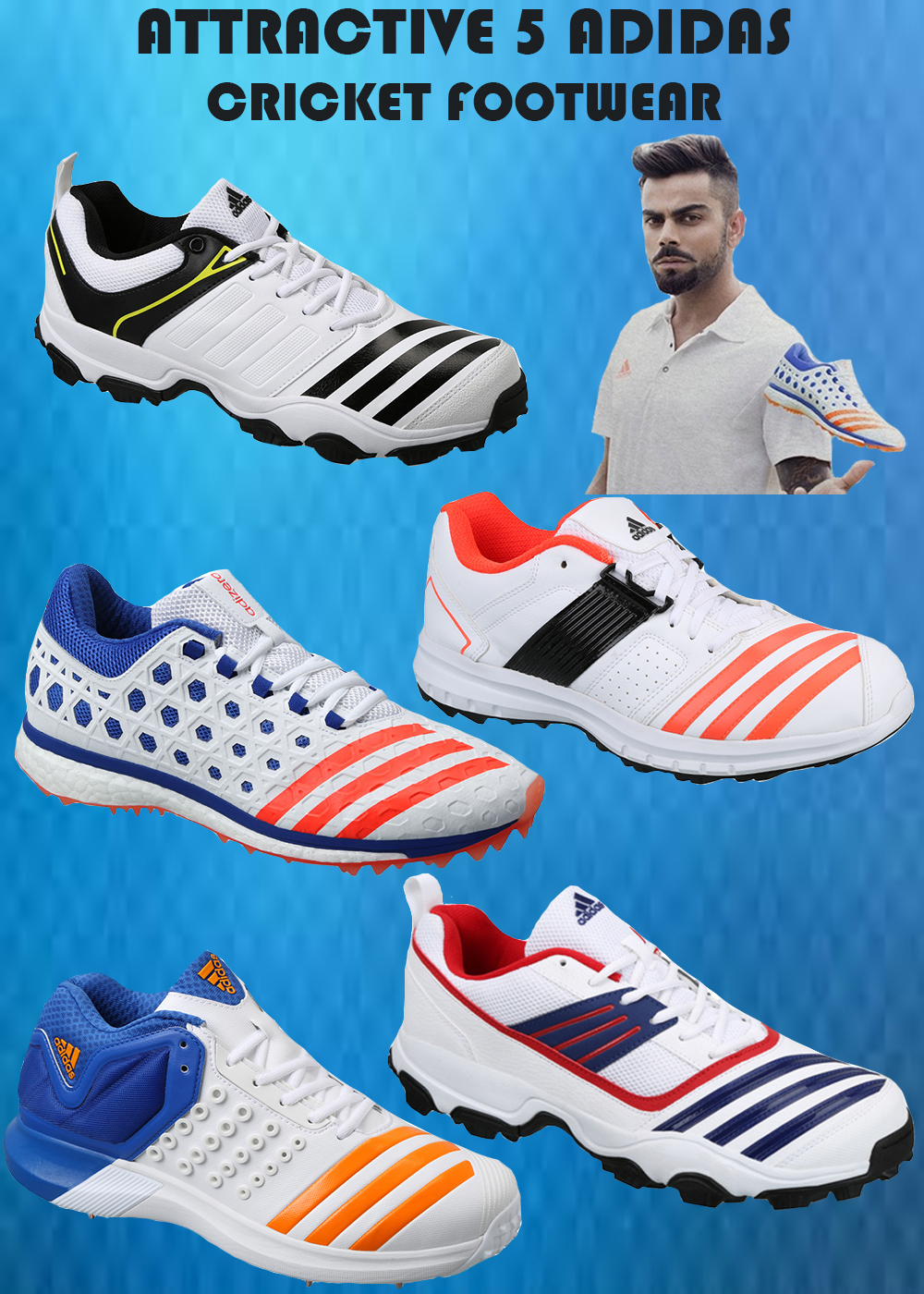 ATTRACTIVE 5 ADIDAS CRICKET FOOTWEAR IMAGE_1