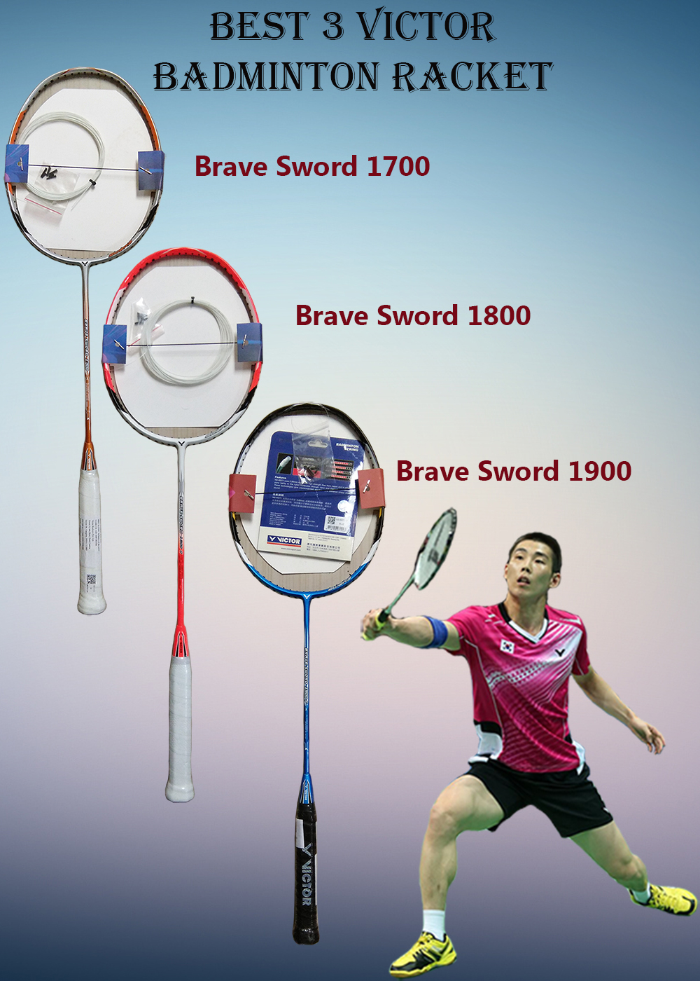 BEST 3 VICTOR BADMINTON RACKET