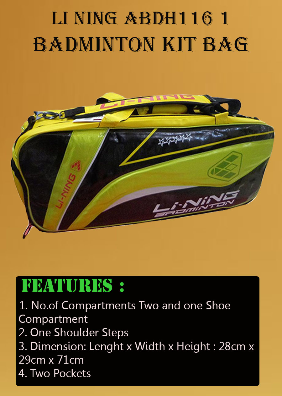 Li Ning ABDH116 1 Badminton kit Bag_5