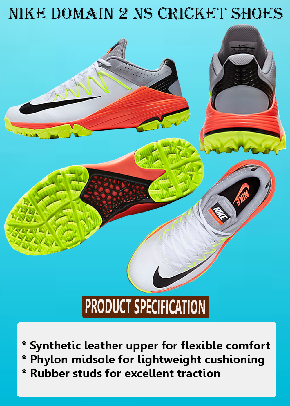 NIKE DOMAIN 2 NS CRICKET SHOES_3