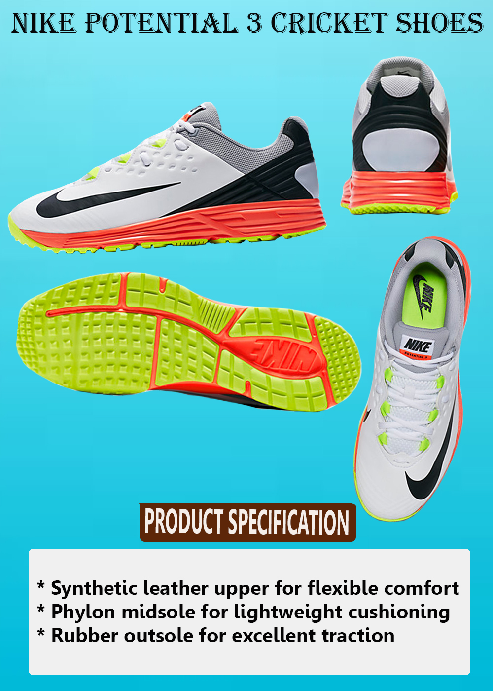 NIKE POTENTIAL 3 CRICKET SHOES_4