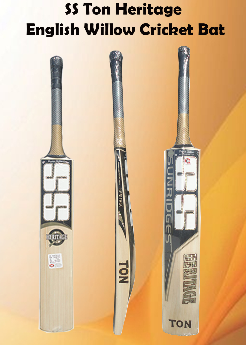 SS Ton Heritage English Willow Cricket Bat_3