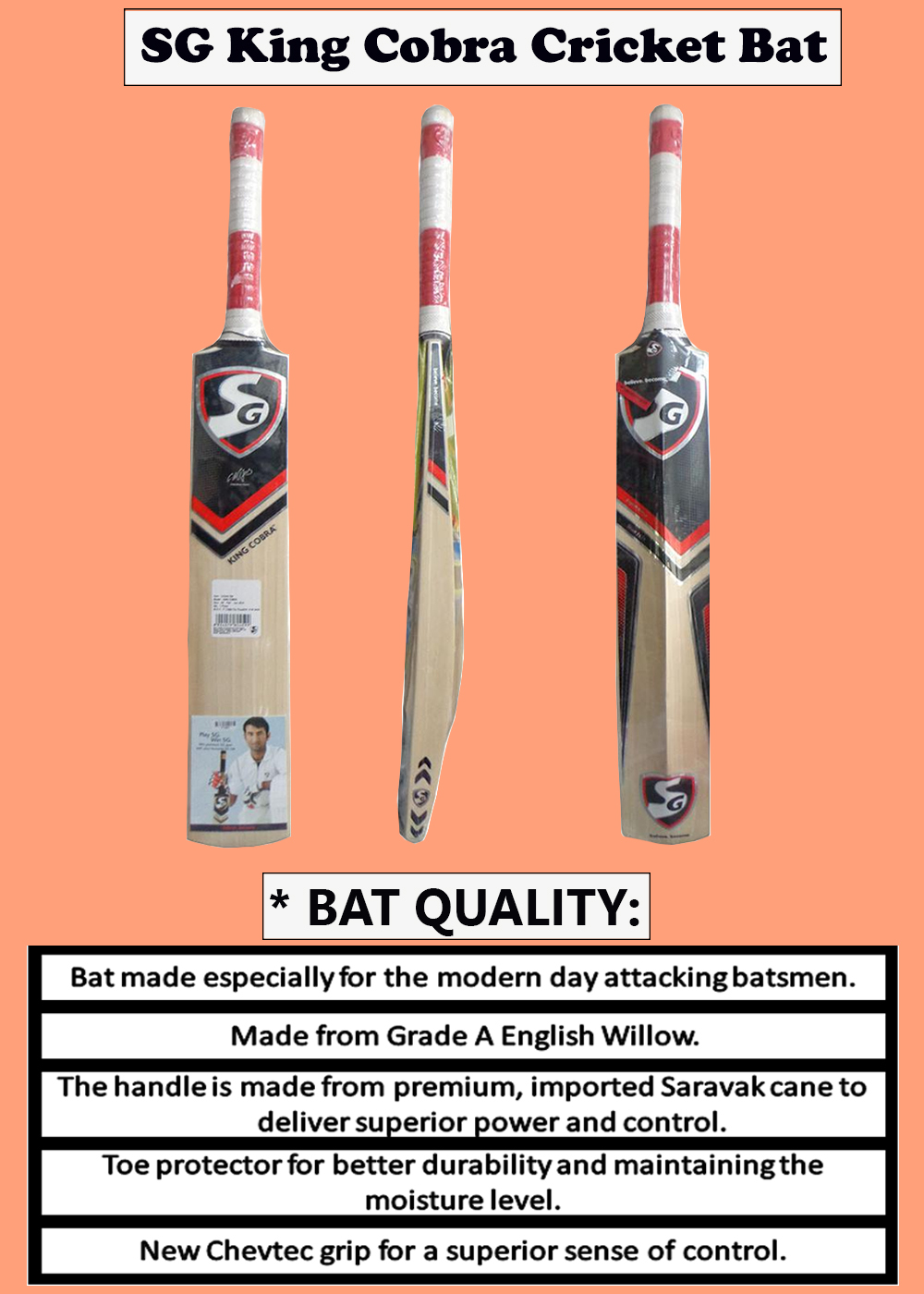 SG King Cobra Cricket Bat_6
