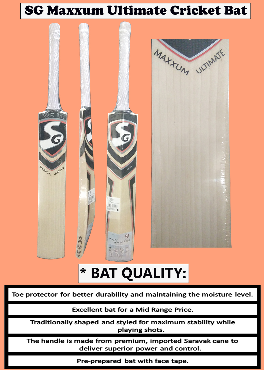 SG Maxxum Ultimate Cricket Bat_5