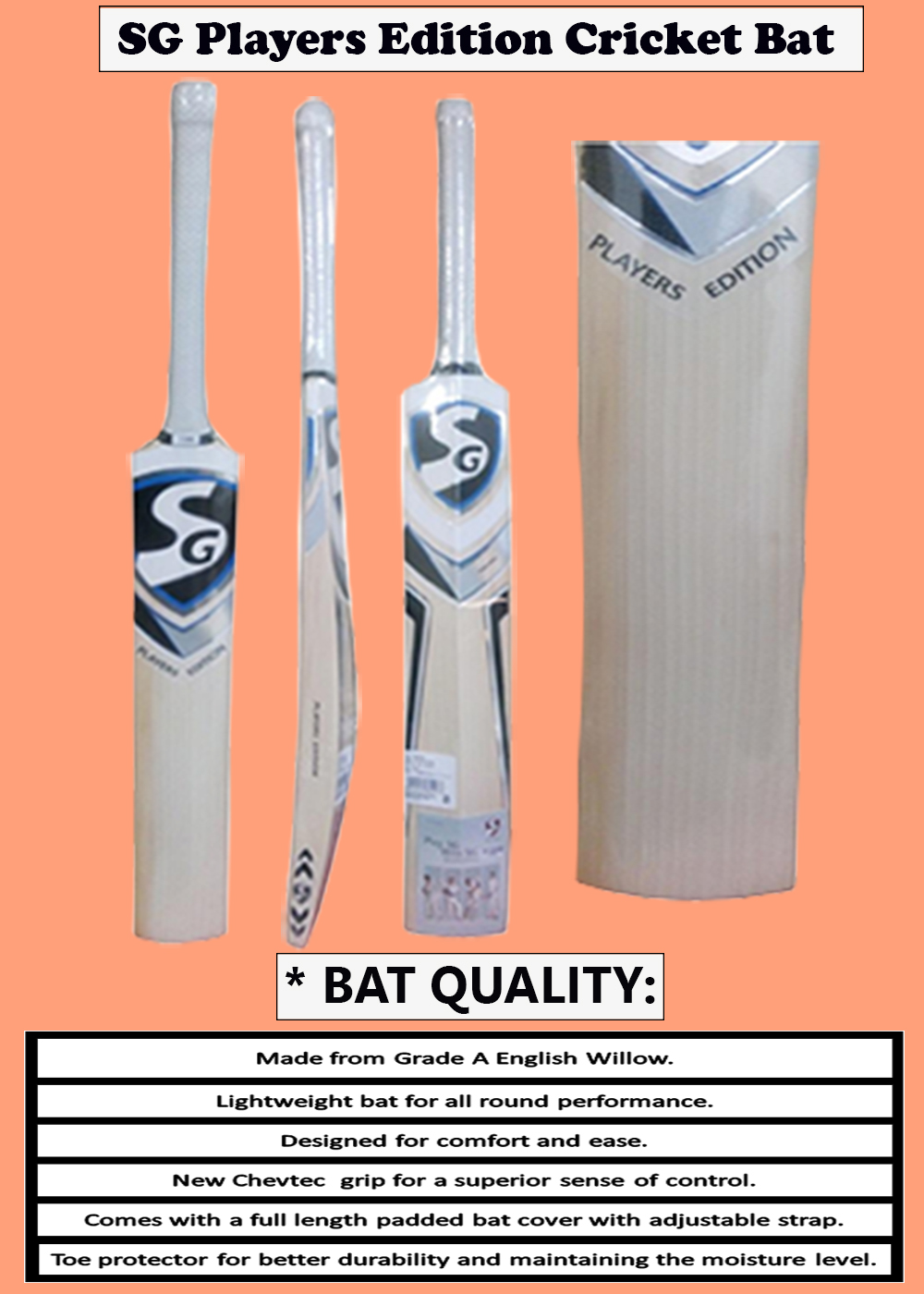 SG Players Edition Cricket Bat_4