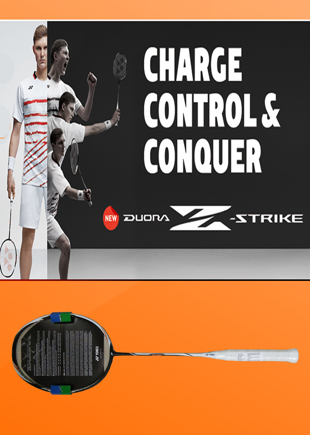 YONEX DUORA Z STRIKE RACKETIMAGE AND PLAYER
