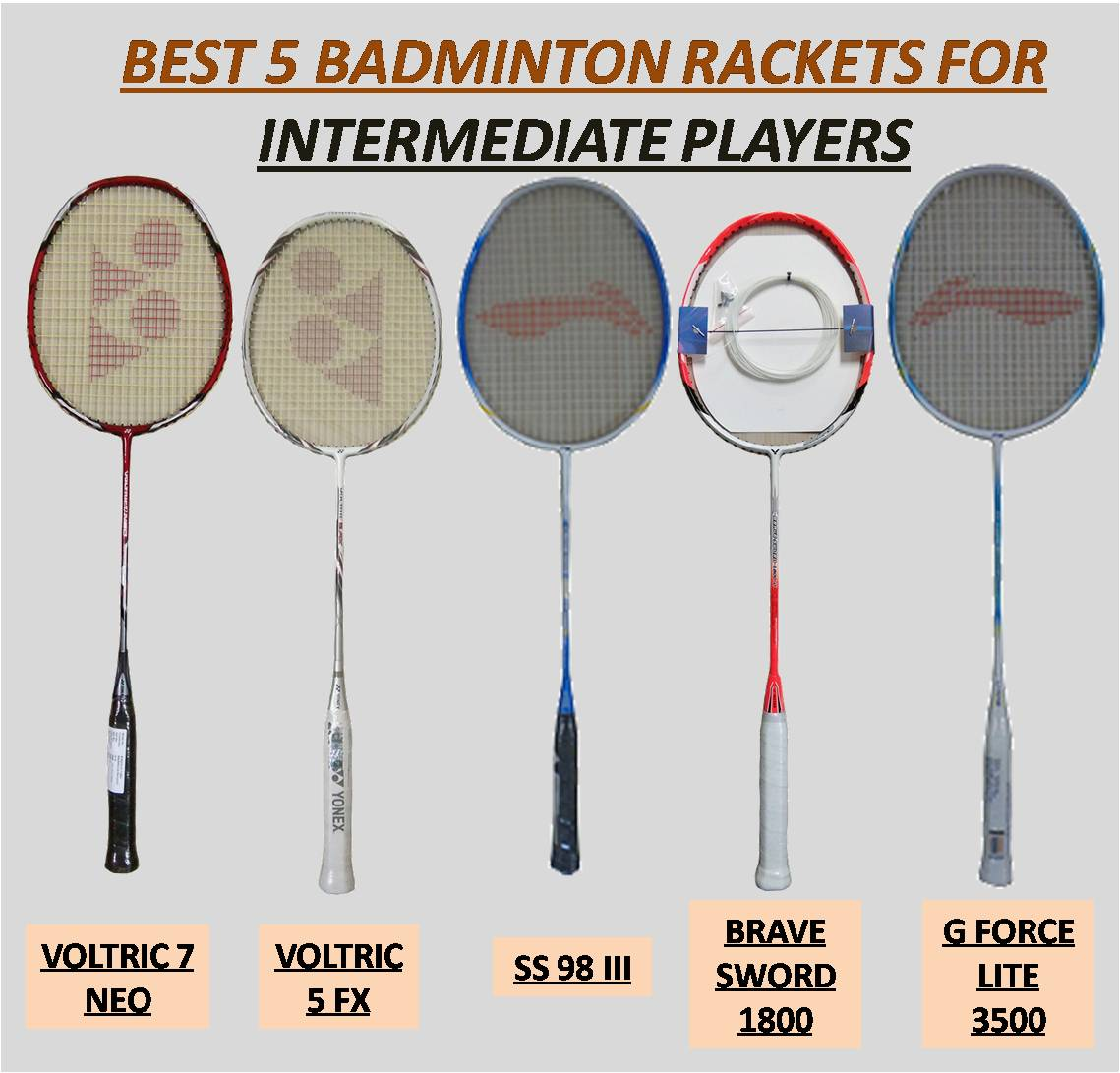 BEST 5 BADMINTON RACKETS FOR INTERMEDIATE PLAYERS 1