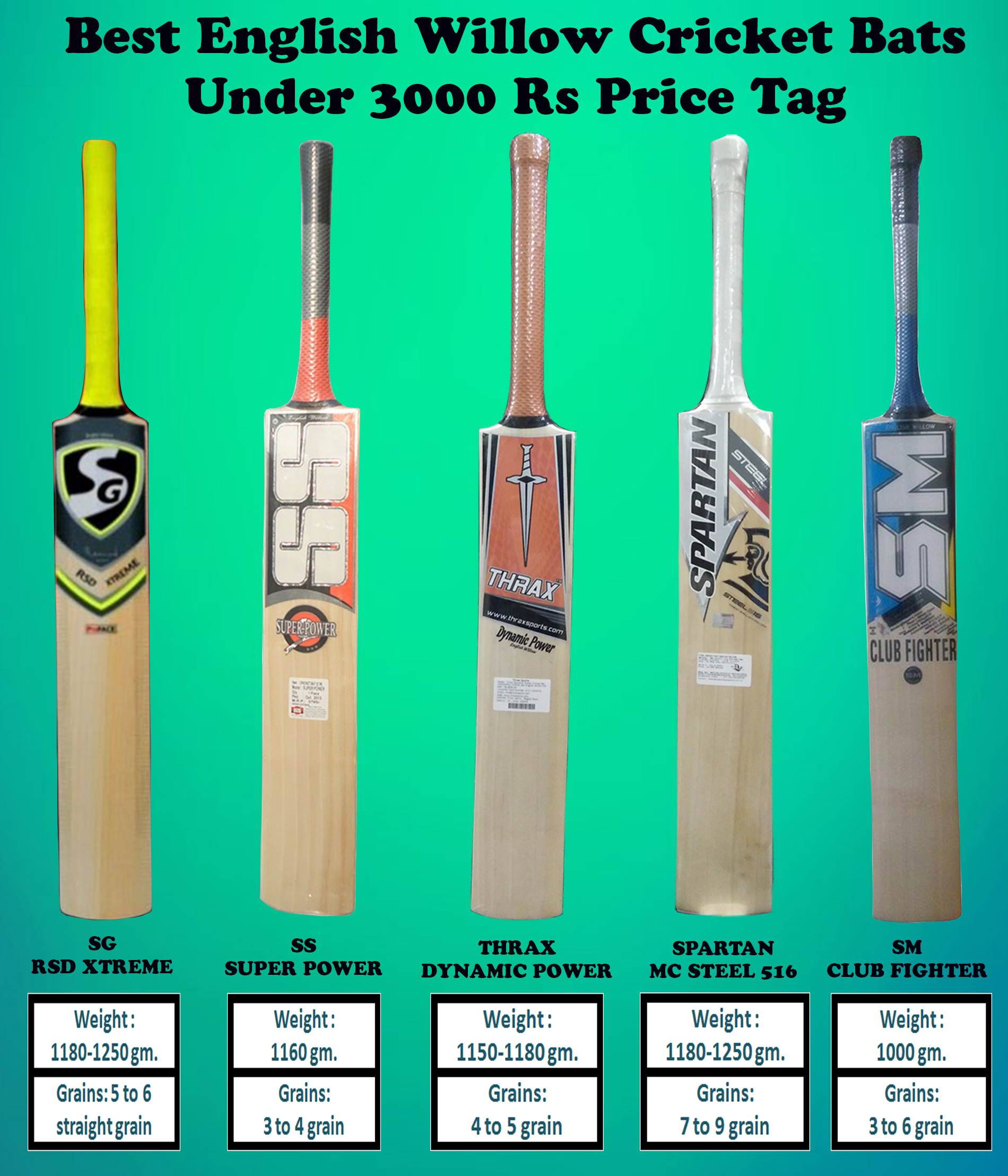 BEST ENGLISH WILLOW BATS UNDER 3000 RS