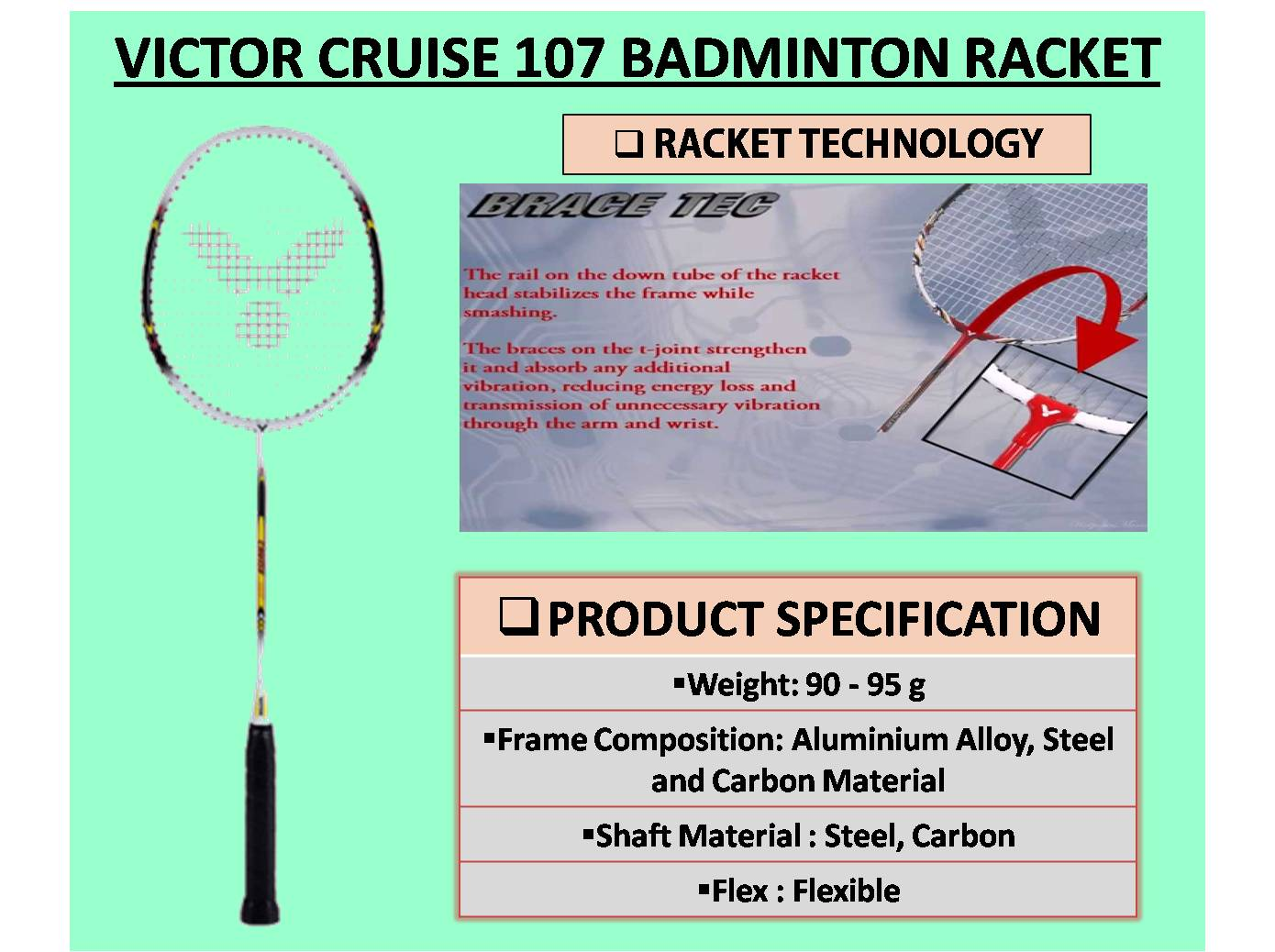 VICTOR CRUISE 107 BADMINTON RACKET