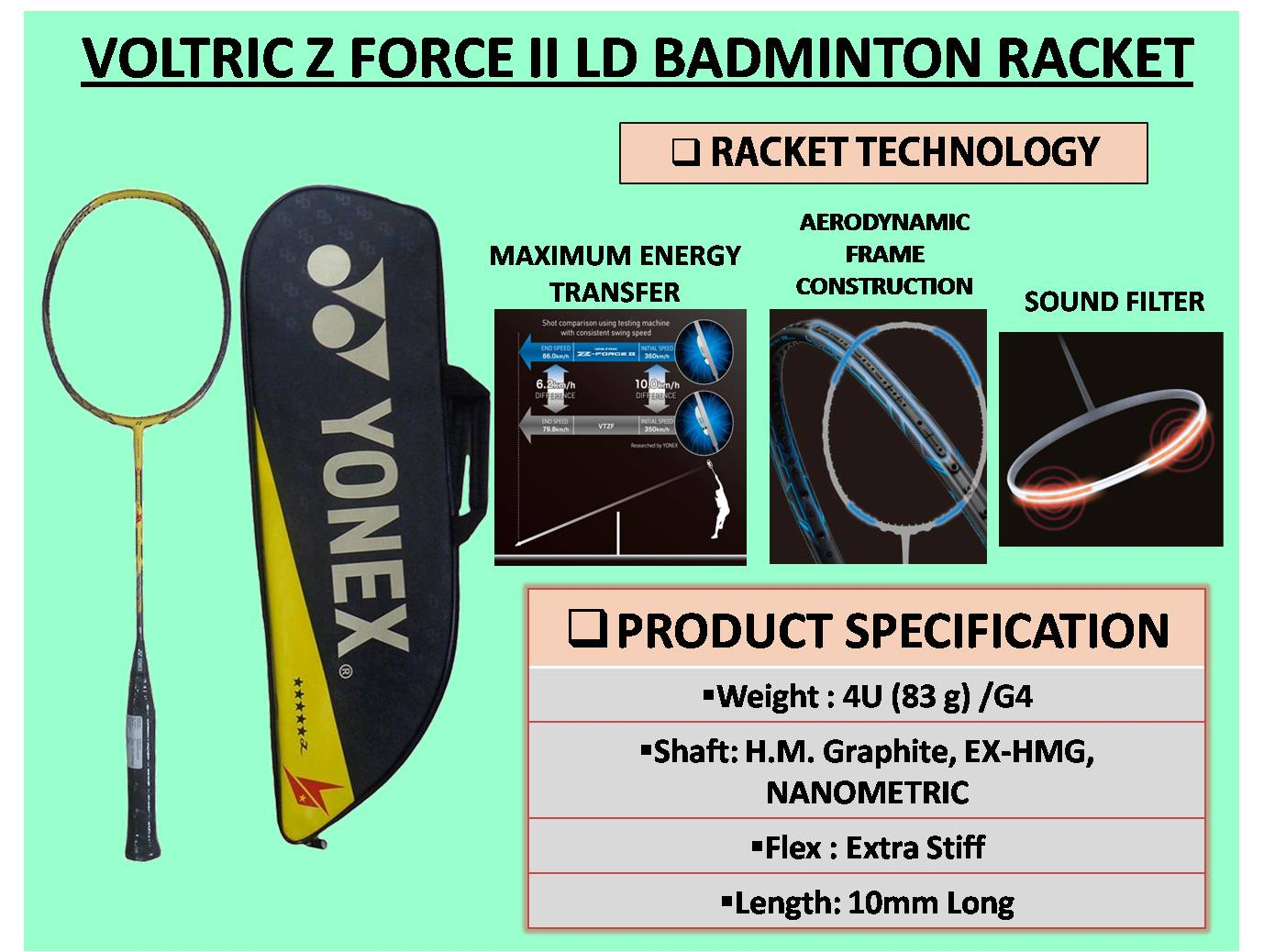 VOLTRIC Z FORCE II LD BADMINTON RACKET