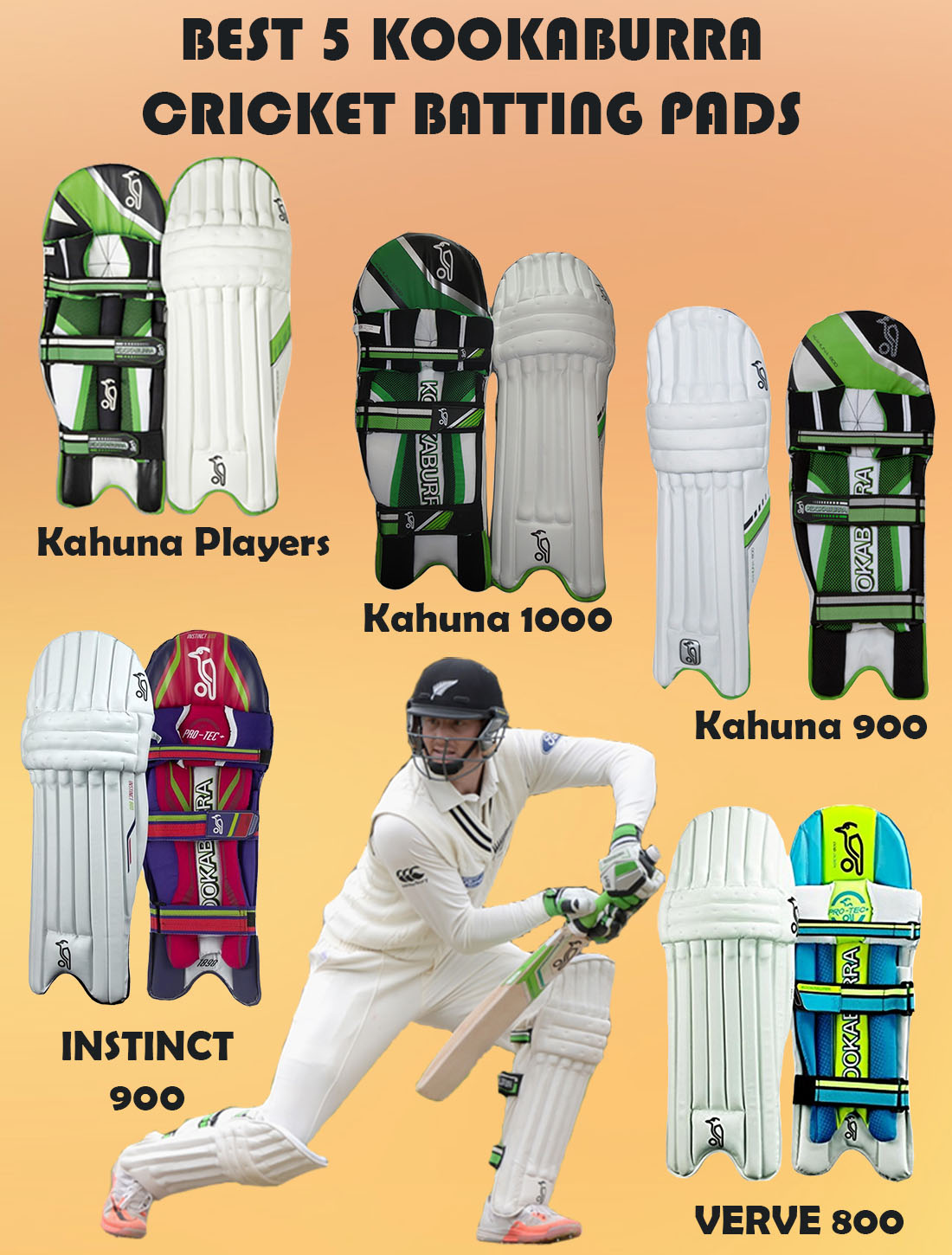 BEST 5 KOOKABURRA BATTING PADS IMAGE