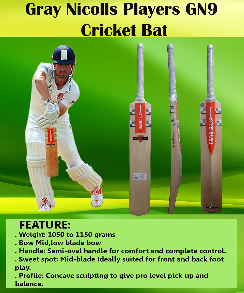 Gray Nicolls Players GN9 English Willow Cricket Bat_2