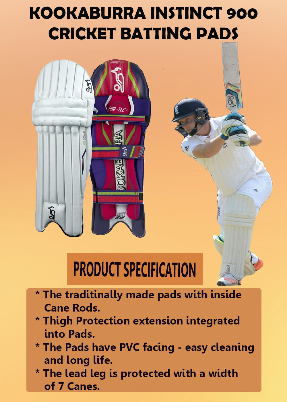 Kookaburra Instinct 900 Cricket Batting Pads_5