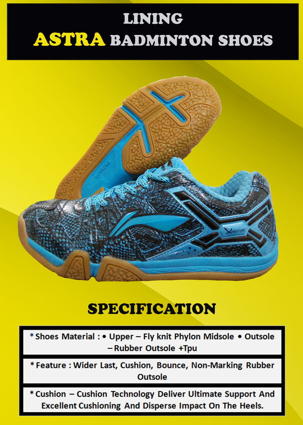 LI NING Astra Badminton Shoes