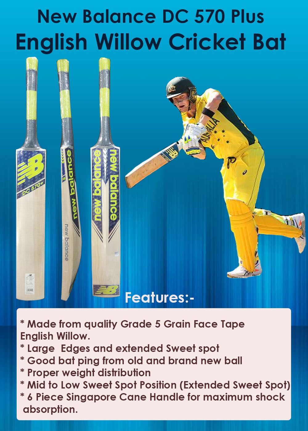 New Balance DC 570 Plus English Willow Cricket Bat_4