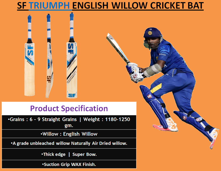 SF TRIUMPH ENGLISH WILLOW CRICKET BAT_3
