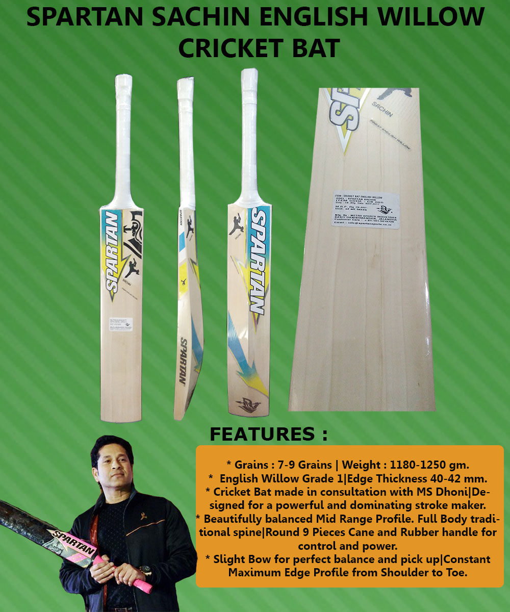 Spartan Sachin English Willow Cricket Bat_2