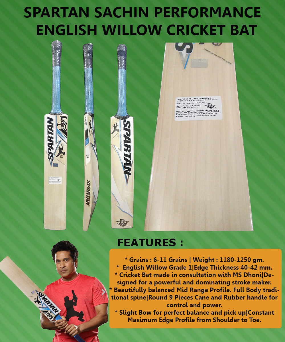 Spartan Sachin Performance English Willow Cricket Bat_3