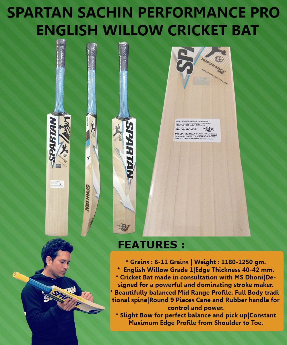 Spartan Sachin Performance Pro English Willow Cricket Bat4