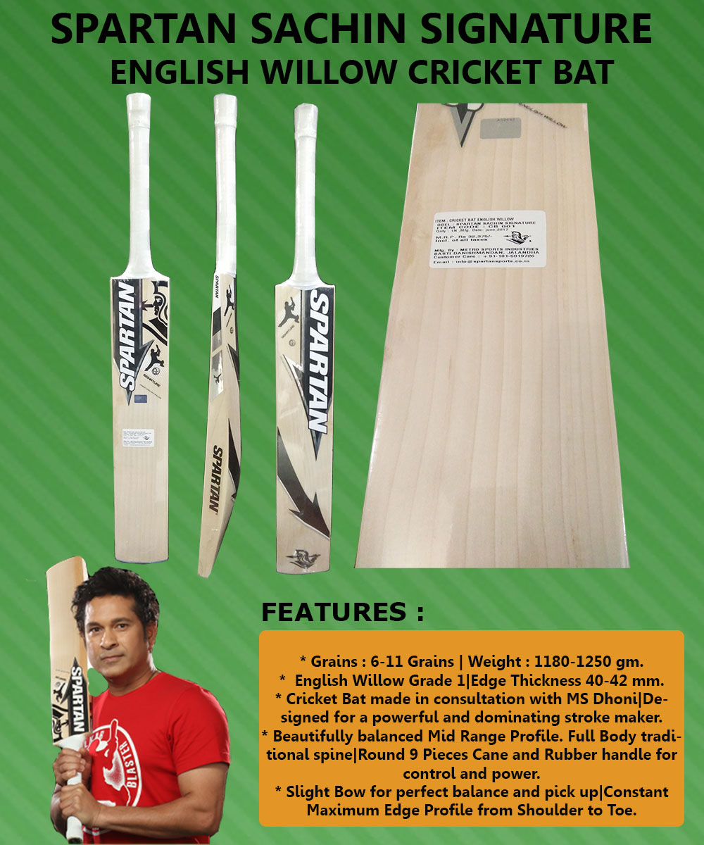 Spartan Sachin Signature English Willow Cricket Bat_5