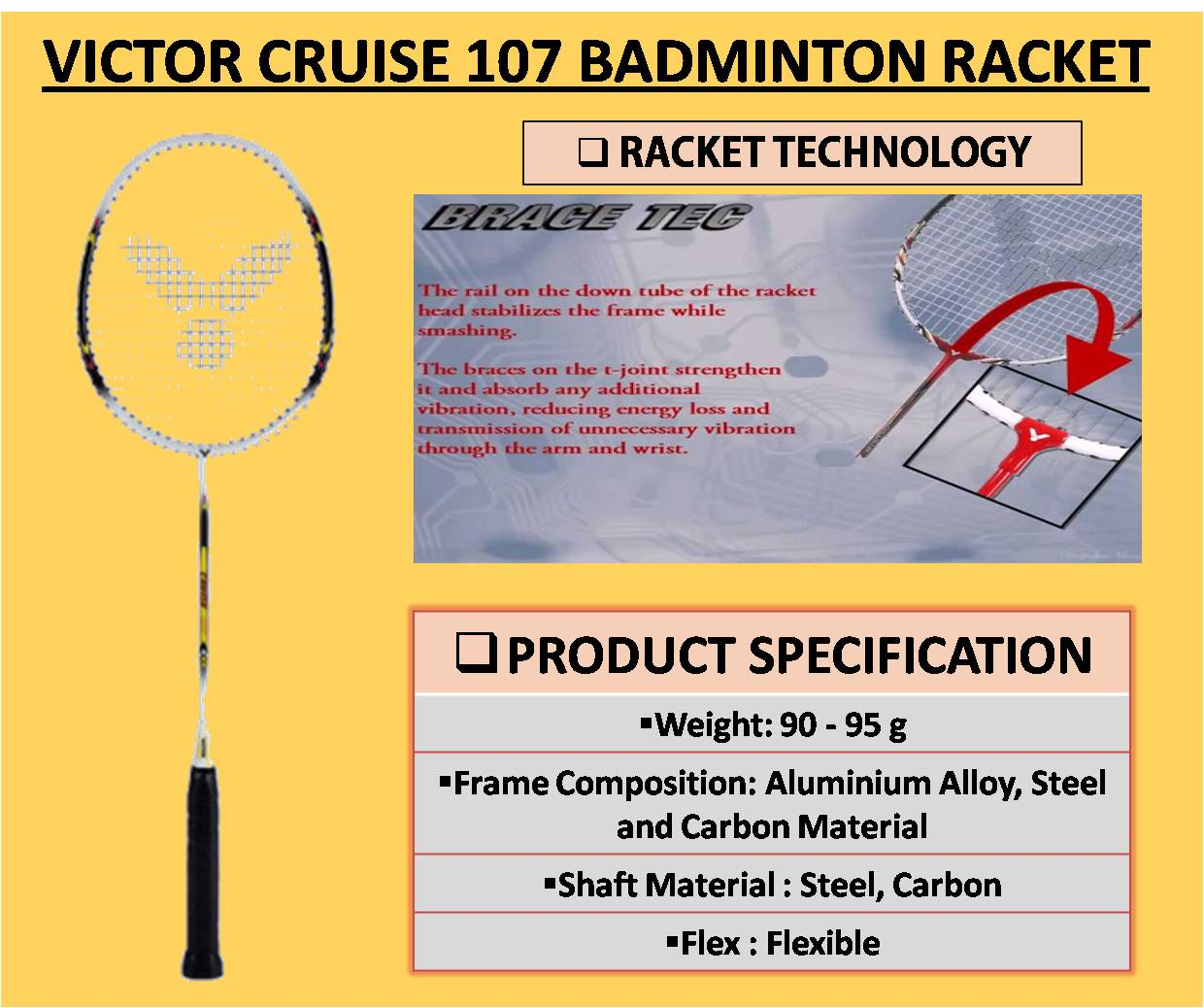 LINING SMASH XP 90 II BADMINTON RACKET