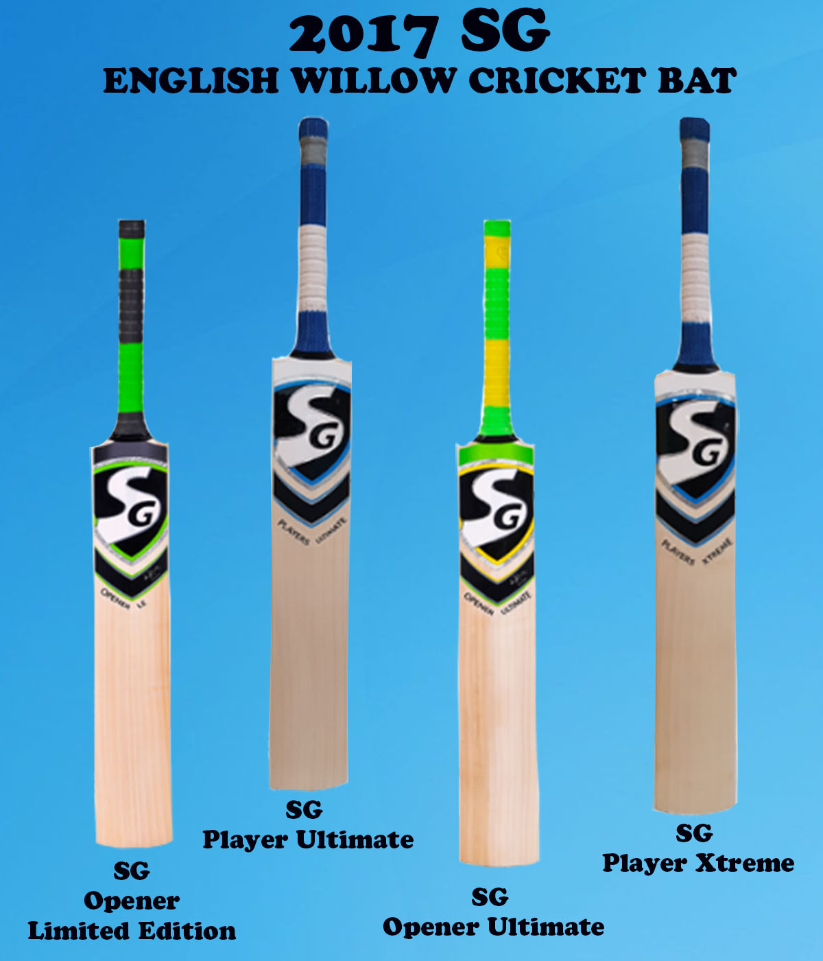2017 SG English Willow Cricket Bat Images
