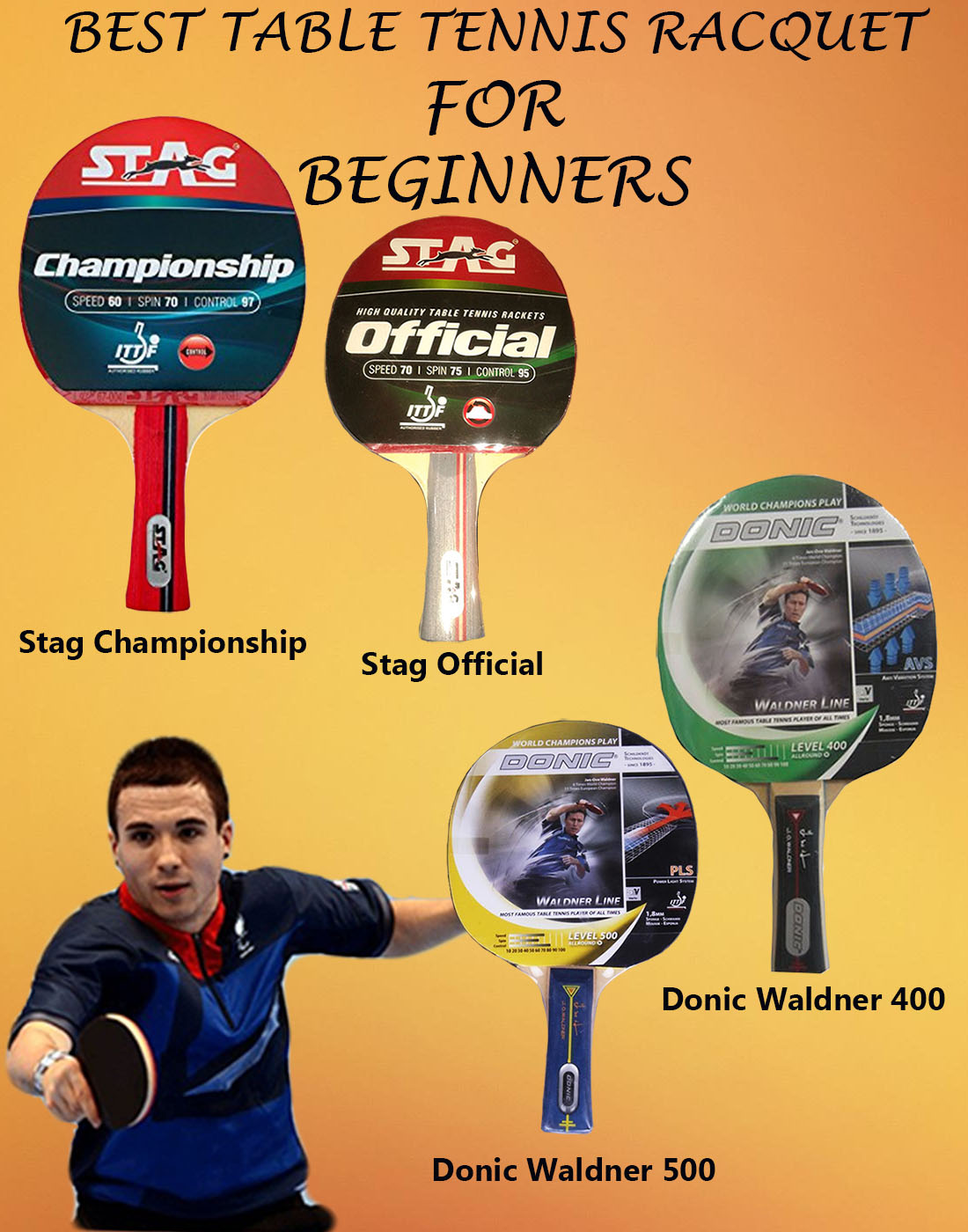 BEST TABLE TENNIS RACQUET FOR BEGINNERS IMAGES
