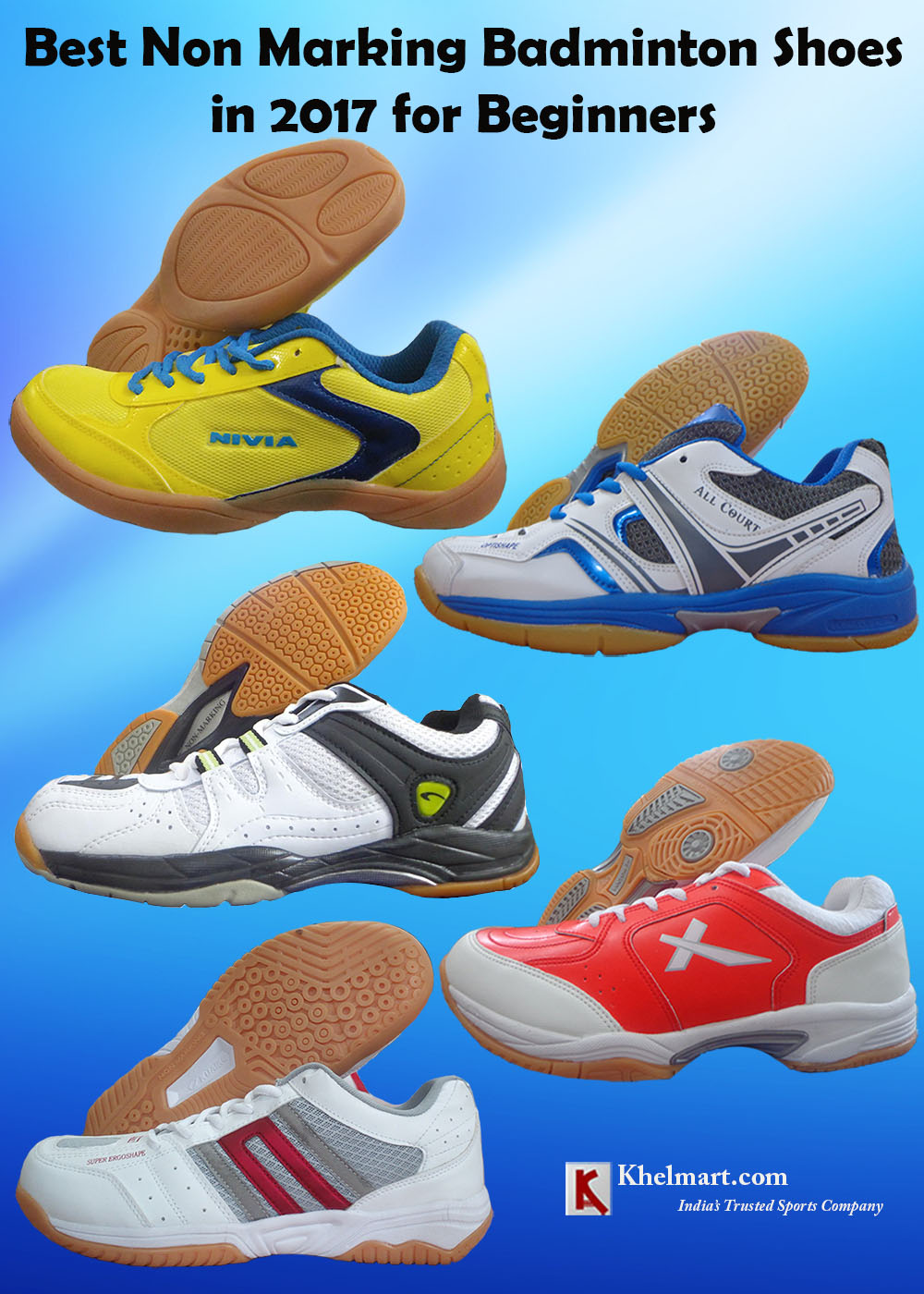 Best Non Marking Badminton Shoes in 2017 for Beginners_1