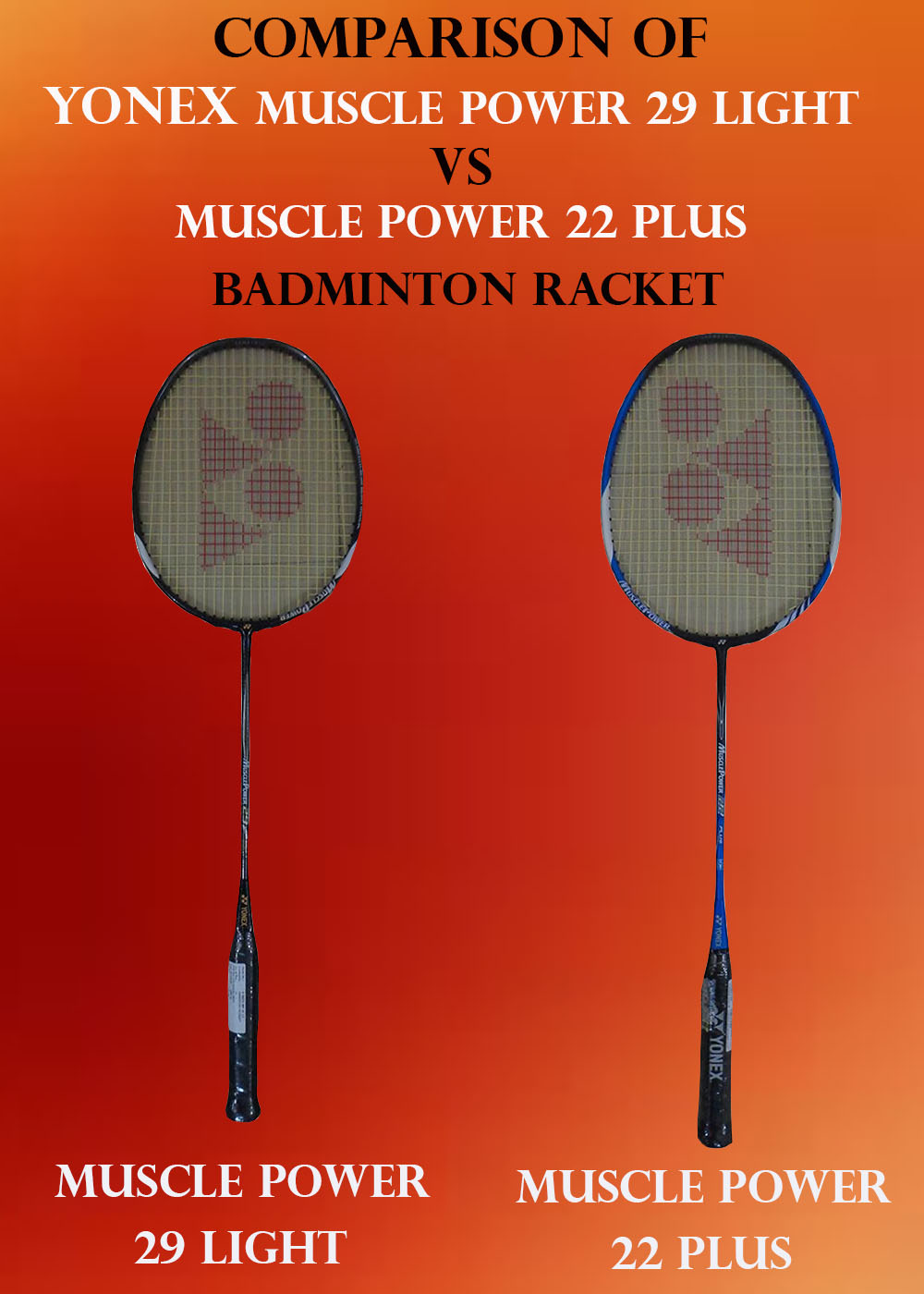 COMPARISON OF MP 29 LIGHT VS MP 22 PLUS RACKET IMAGE_1