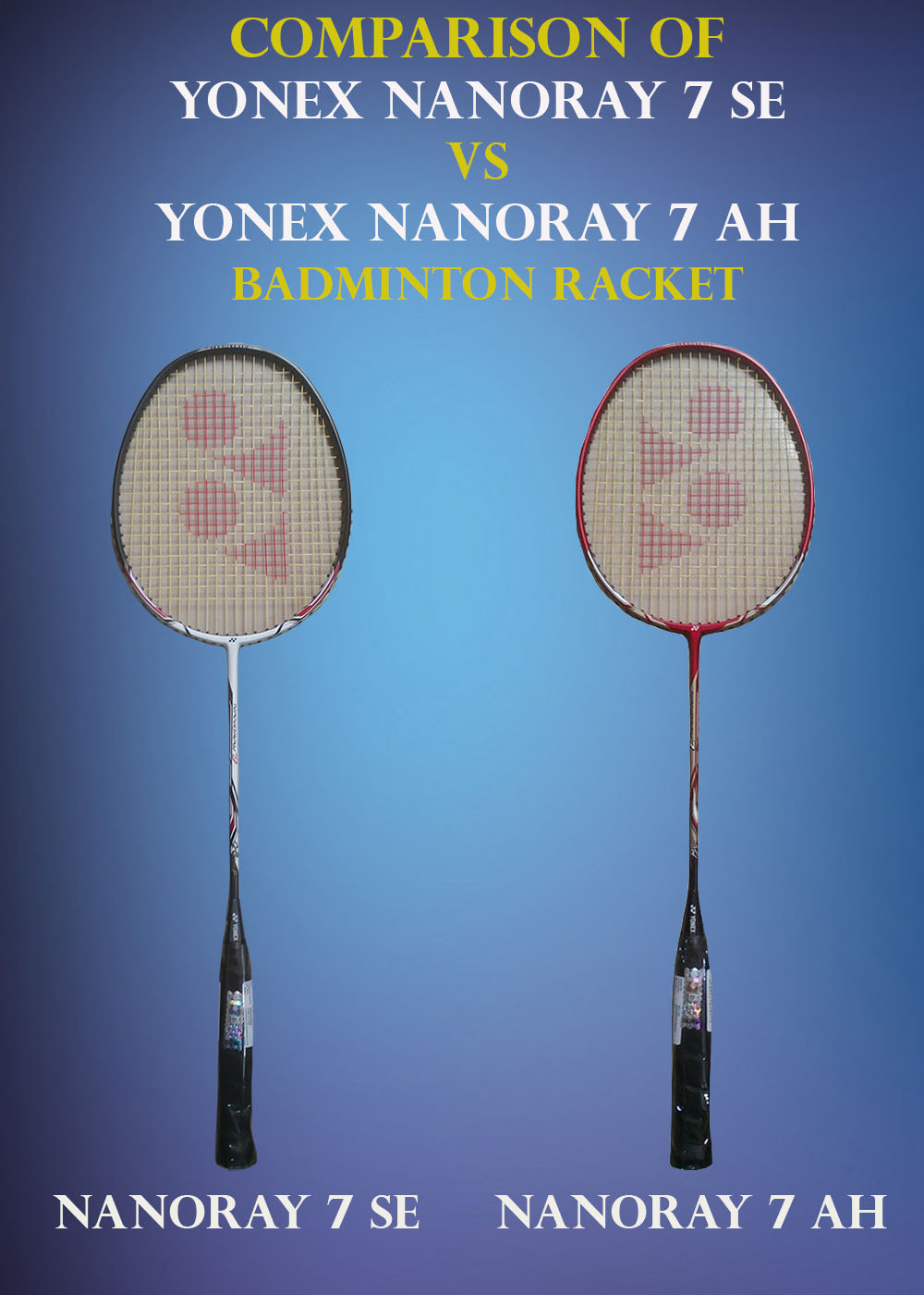 Comparison of Yonex Nanoray 7SE VS Nanoray 7AH_1