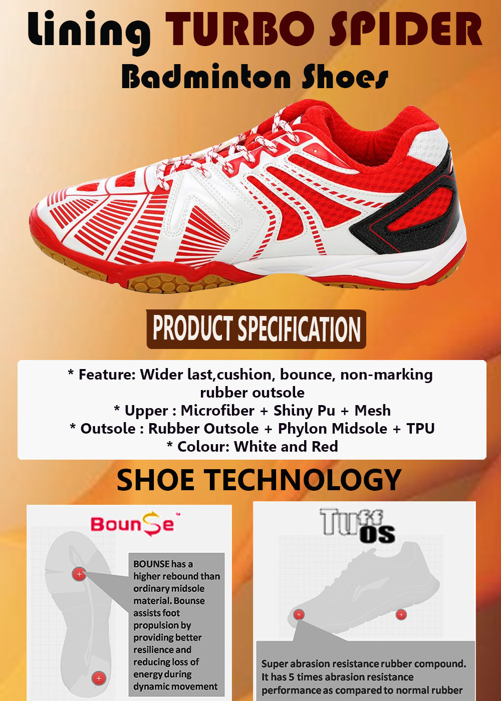LINING TURBO SPIDER BADMINTON SHOES_5
