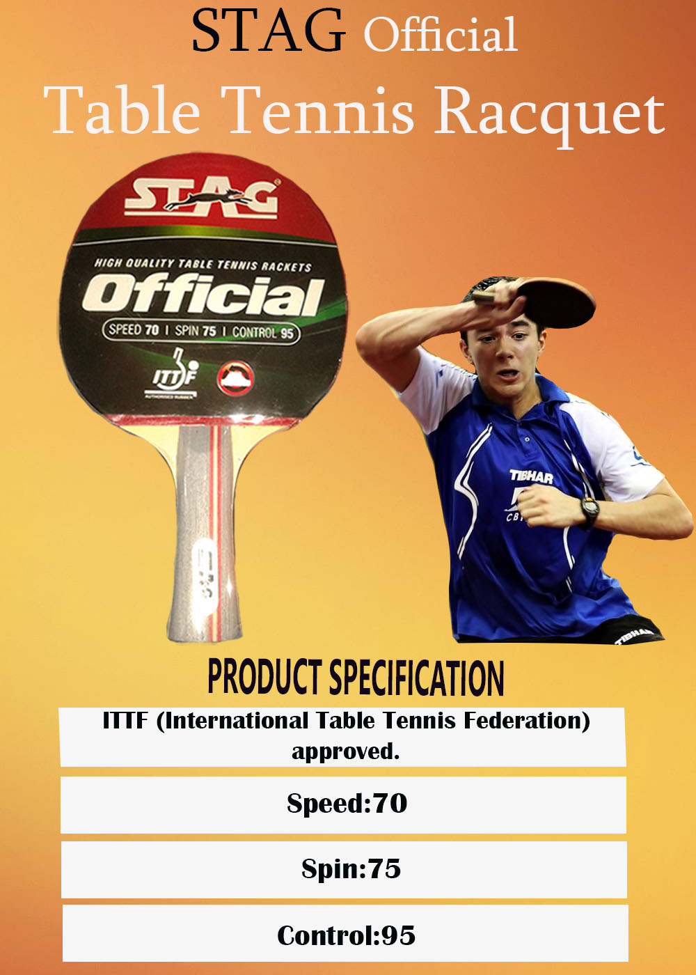 Stag Official Table Tennis Racquet