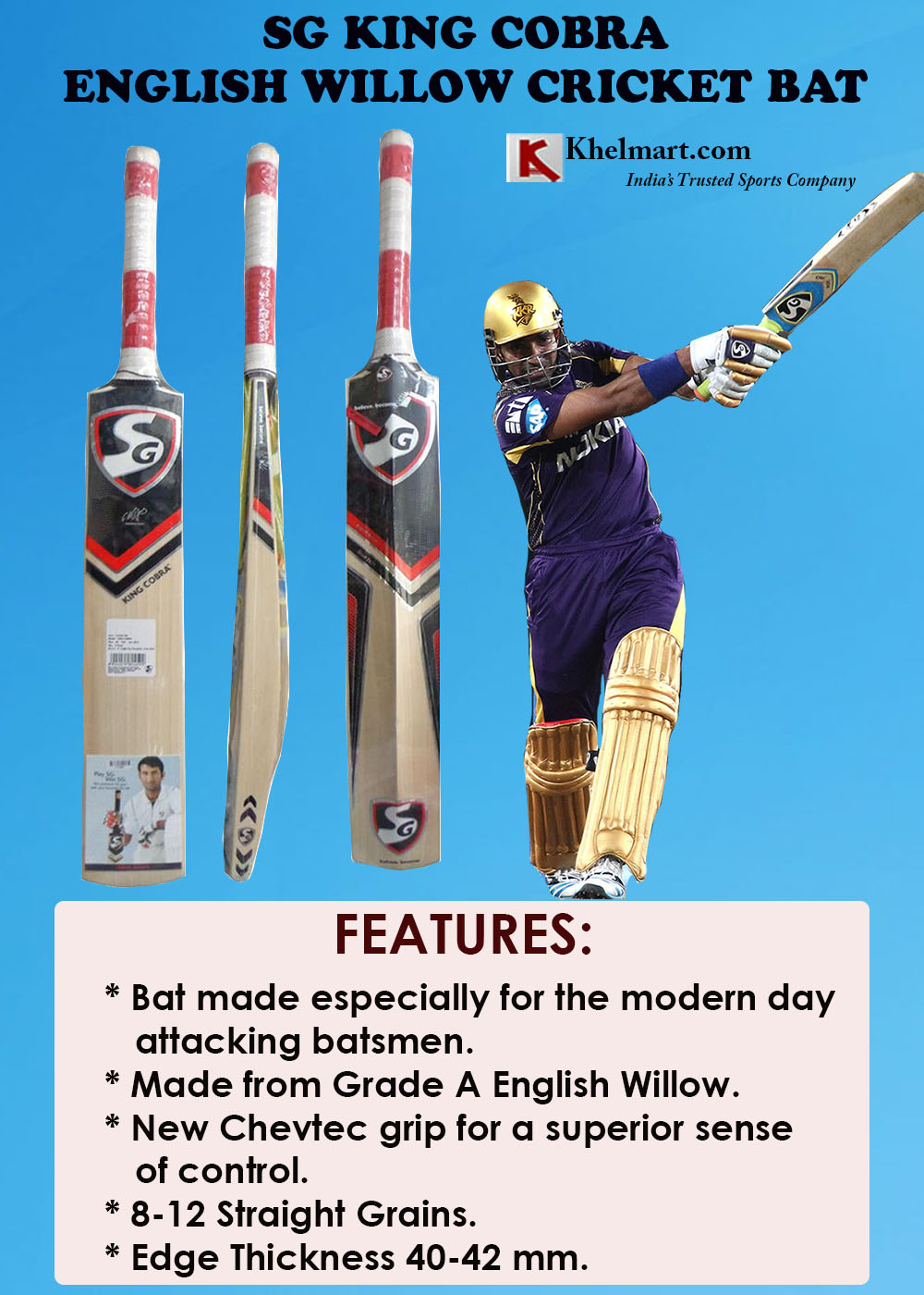 SG King Cobra Cricket Bat