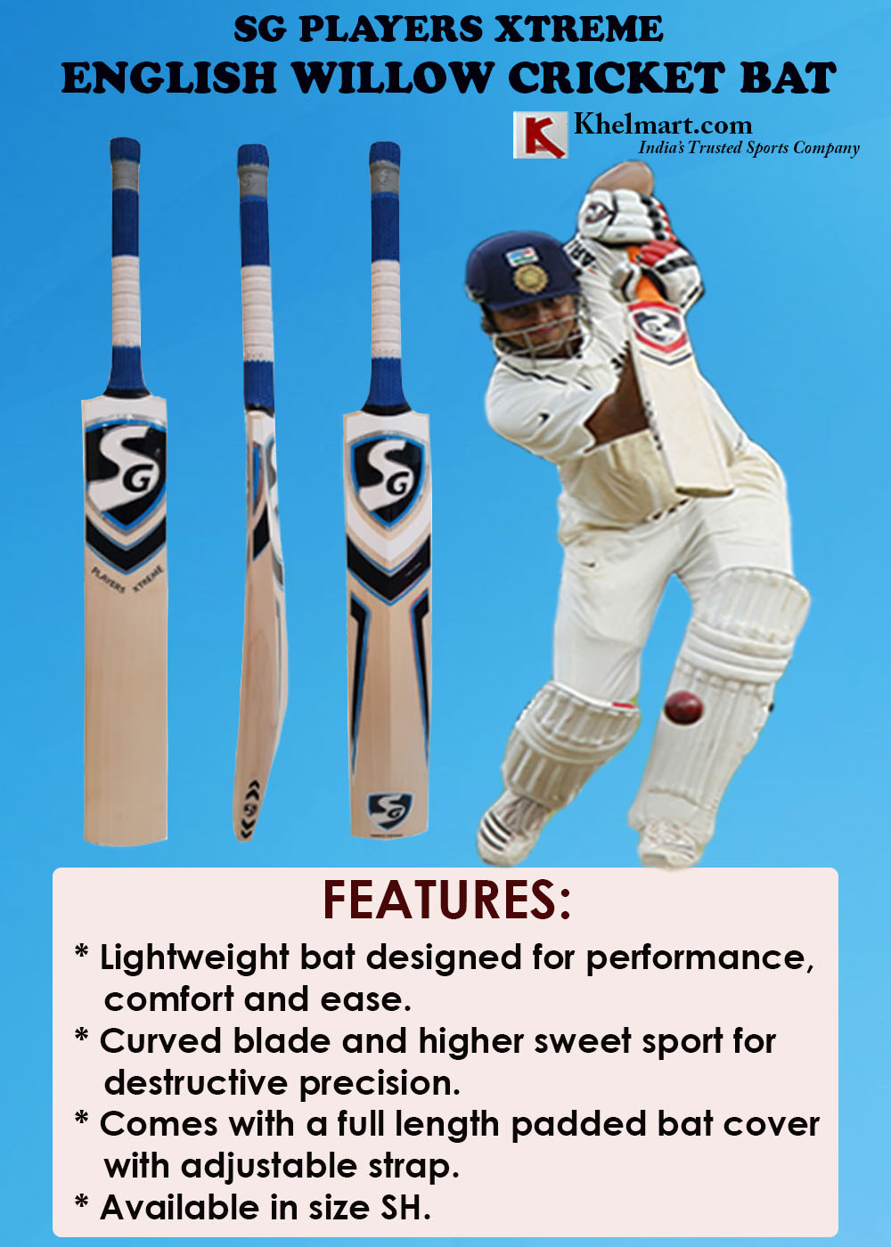 SG Players Xtreme English Willow Cricket Bat