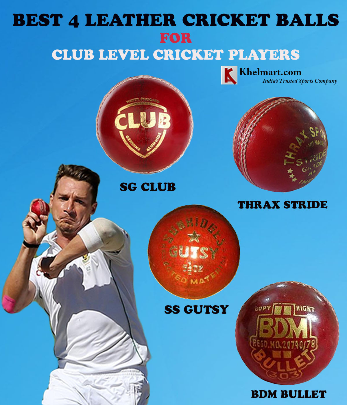 BEST 4 LEATHER CRICKET BALLS FOR CLUB LEVEL CRICKET PLAYERS