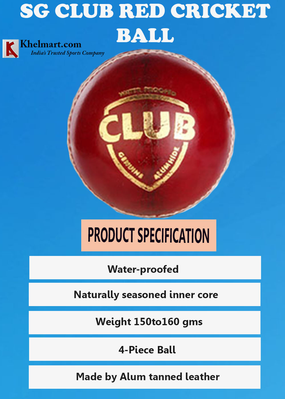 SG Club Red Cricket Ball