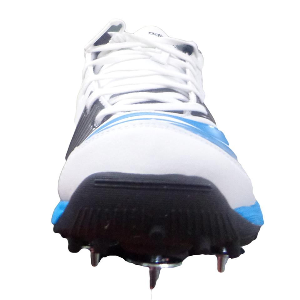 Adidas SL22 FS II Full Spike Cricket Shoes Blue and White ...
