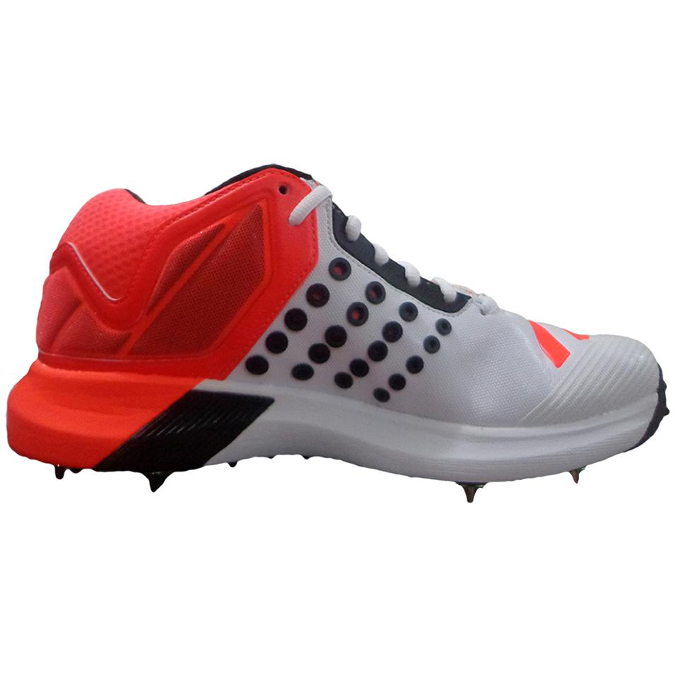 3935a8ba5ee6 Adidas ADIPOWER Vector Mid Full Spike Cricket Shoes Red and White ...