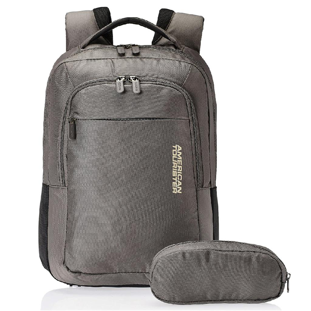 19bd9065d American Tourister Citi Pro Nylon Grey Laptop Backpack - Buy ...