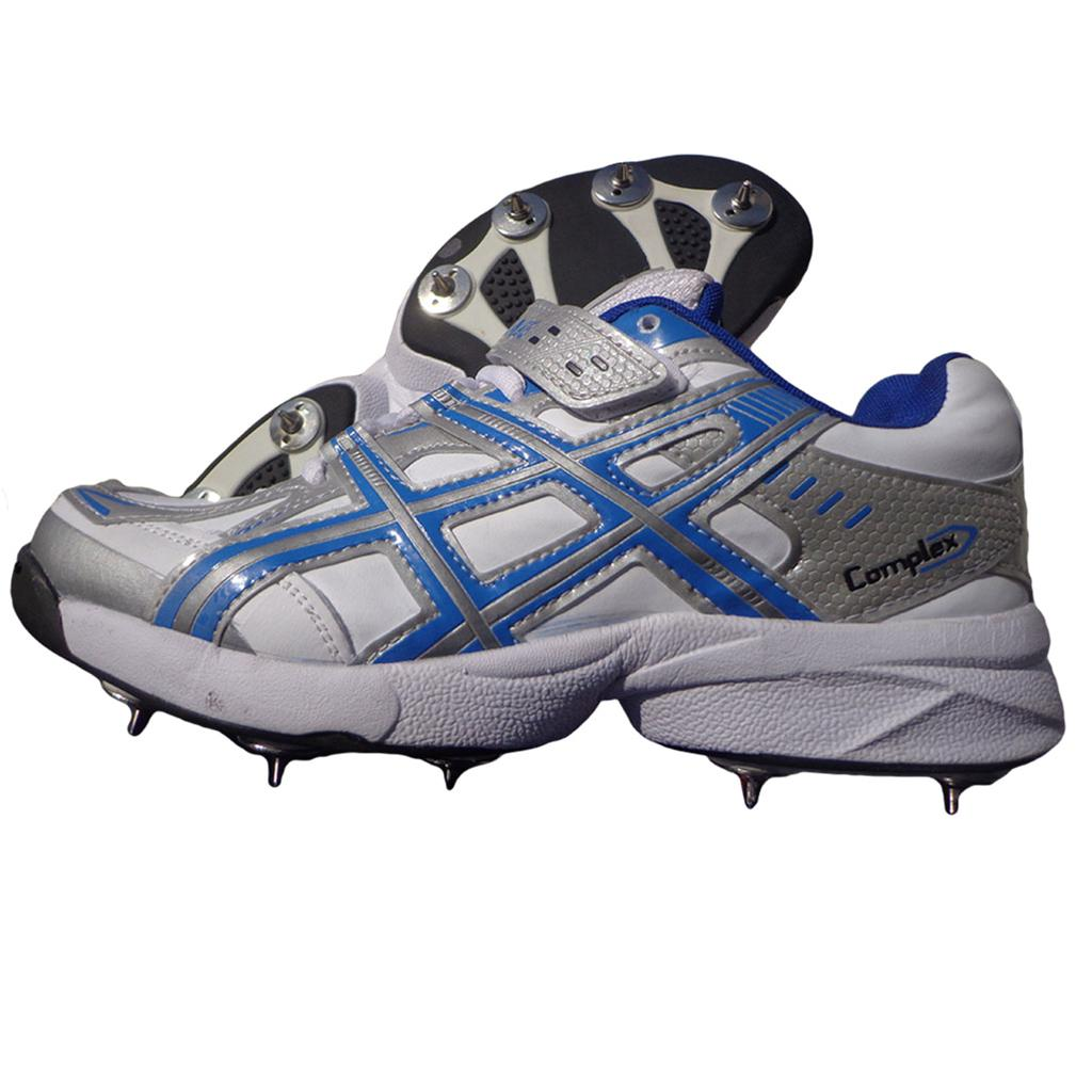 c842373995c1 PRO ASE stud Full Spike Cricket Shoes White and Blue - Buy PRO ASE ...