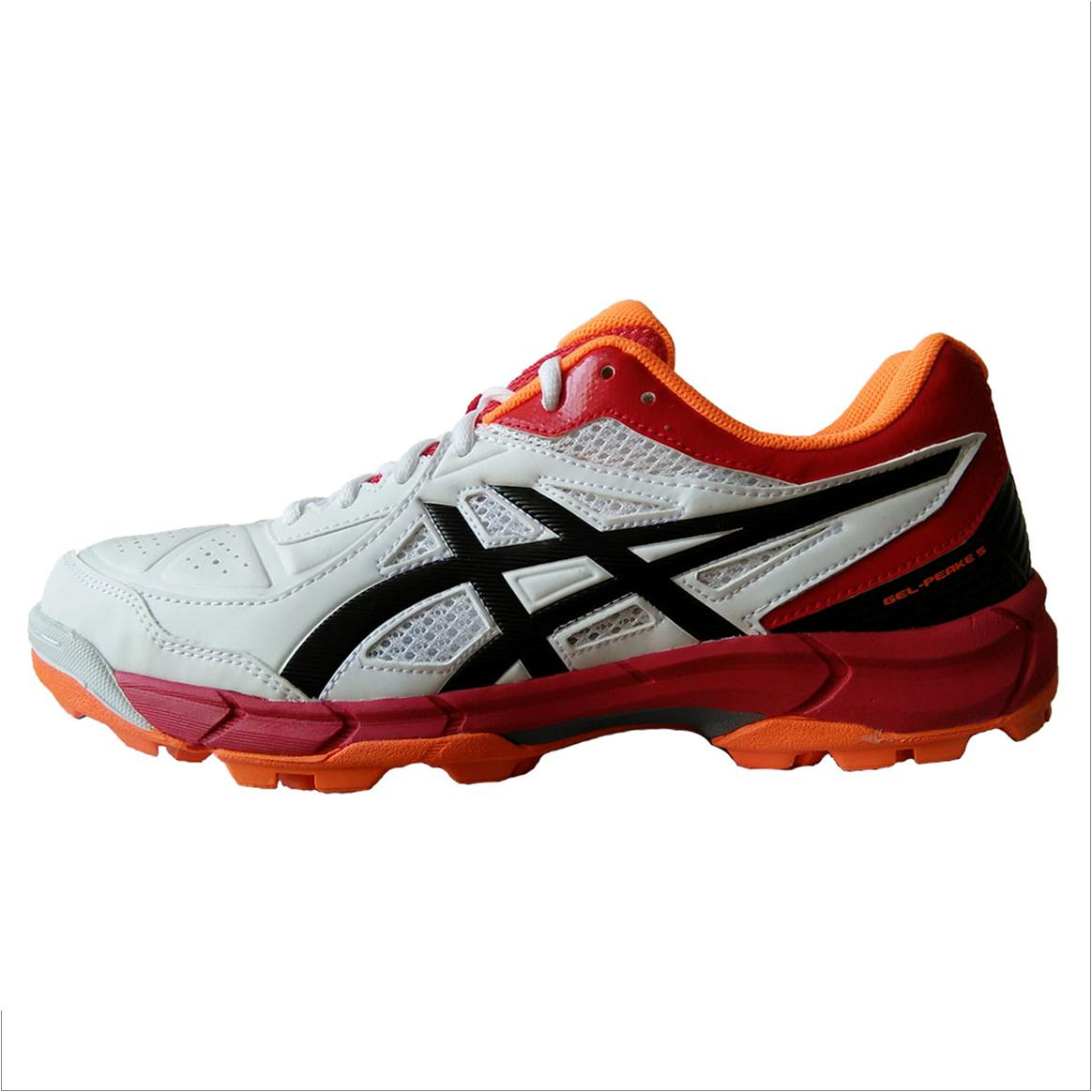 42474358d6fb9 Asics Gel Peake 5 Cricket Shoes White Black and Red