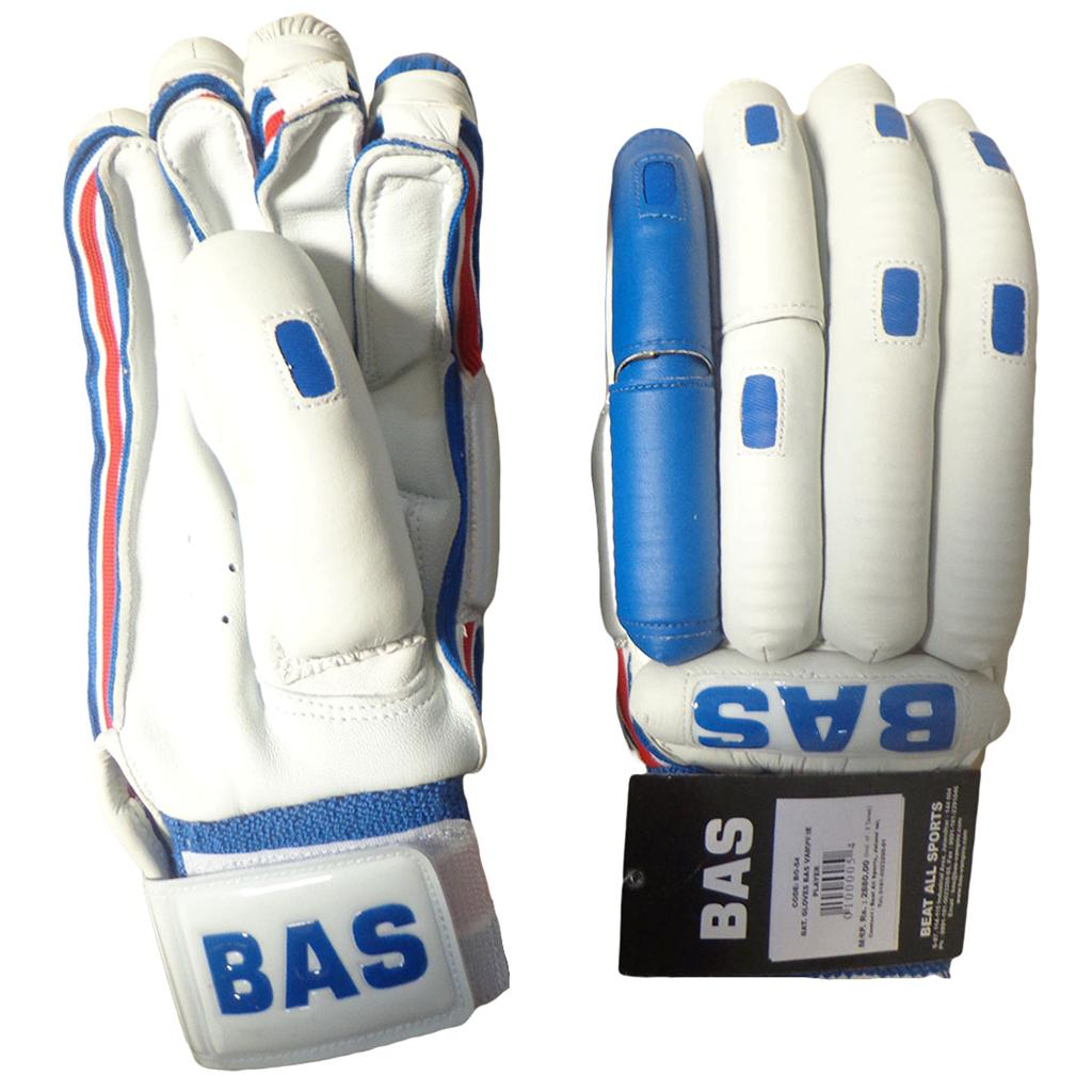 Bas Vampire Players Edition Batting Gloves White Blue