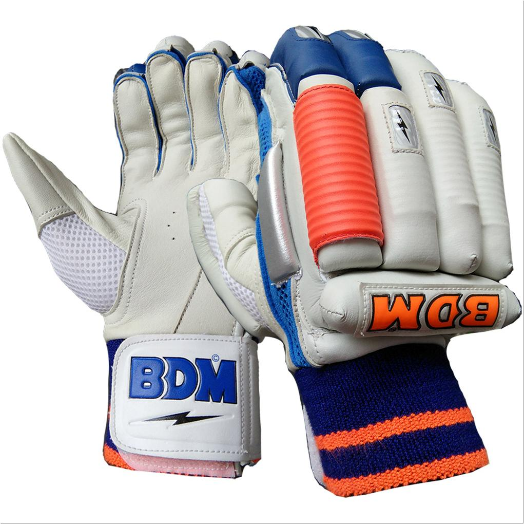 e06ed0e1a78 BDM Sachin Special Batting Gloves White Blue and Orange - Buy BDM ...