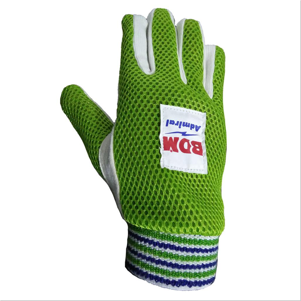 Bdm Admiral Wicket Keeping Inner Gloves Green Buy Bdm