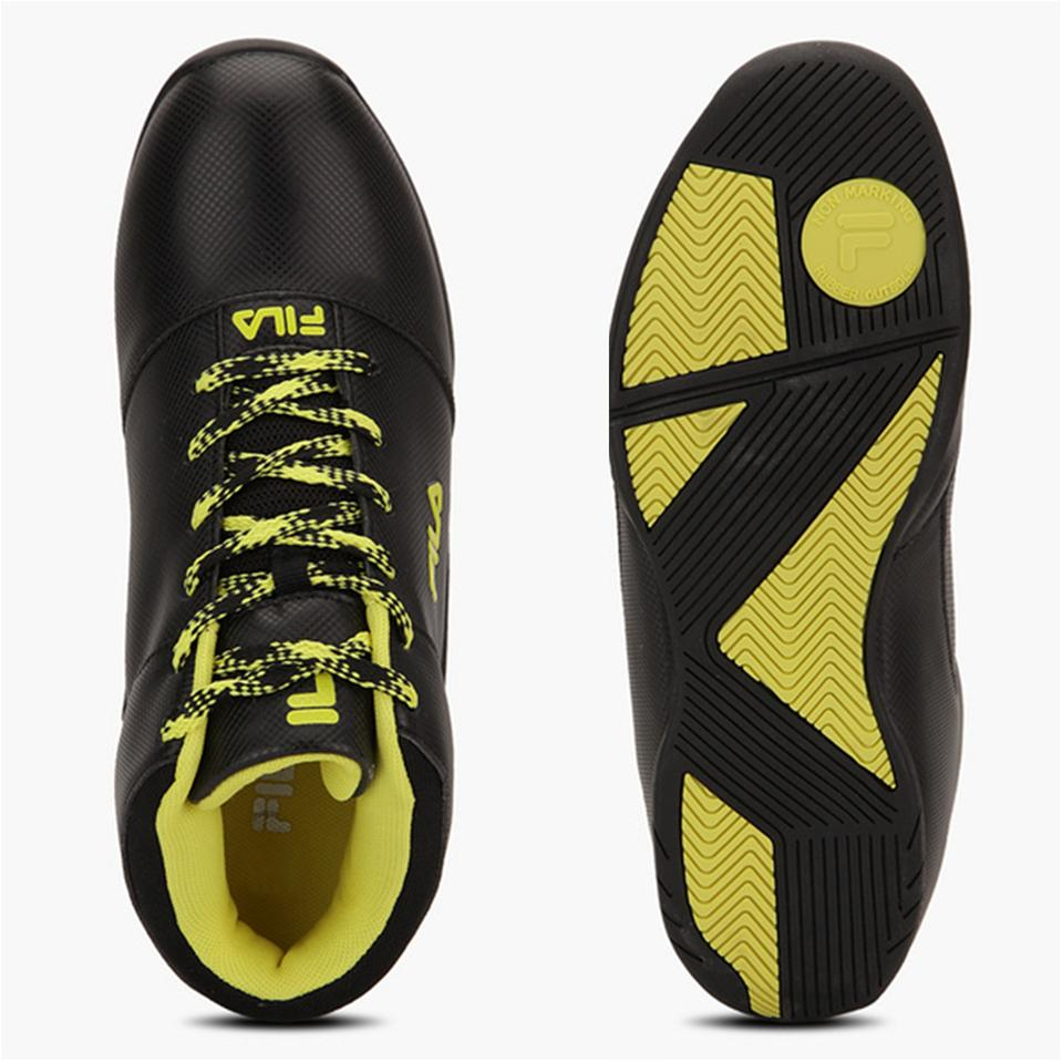 Fila Zoom On Black And Yellow Basketball Shoes Buy Fila