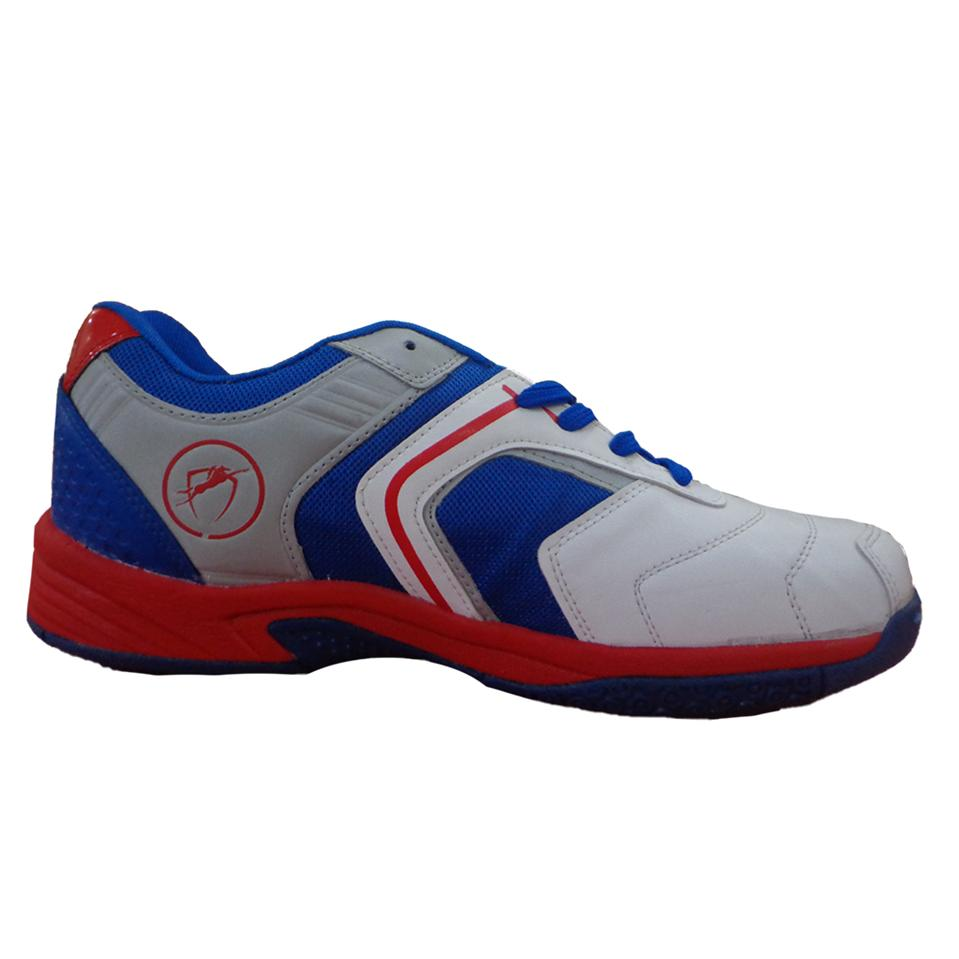 gravity non marking badminton shoes white and red
