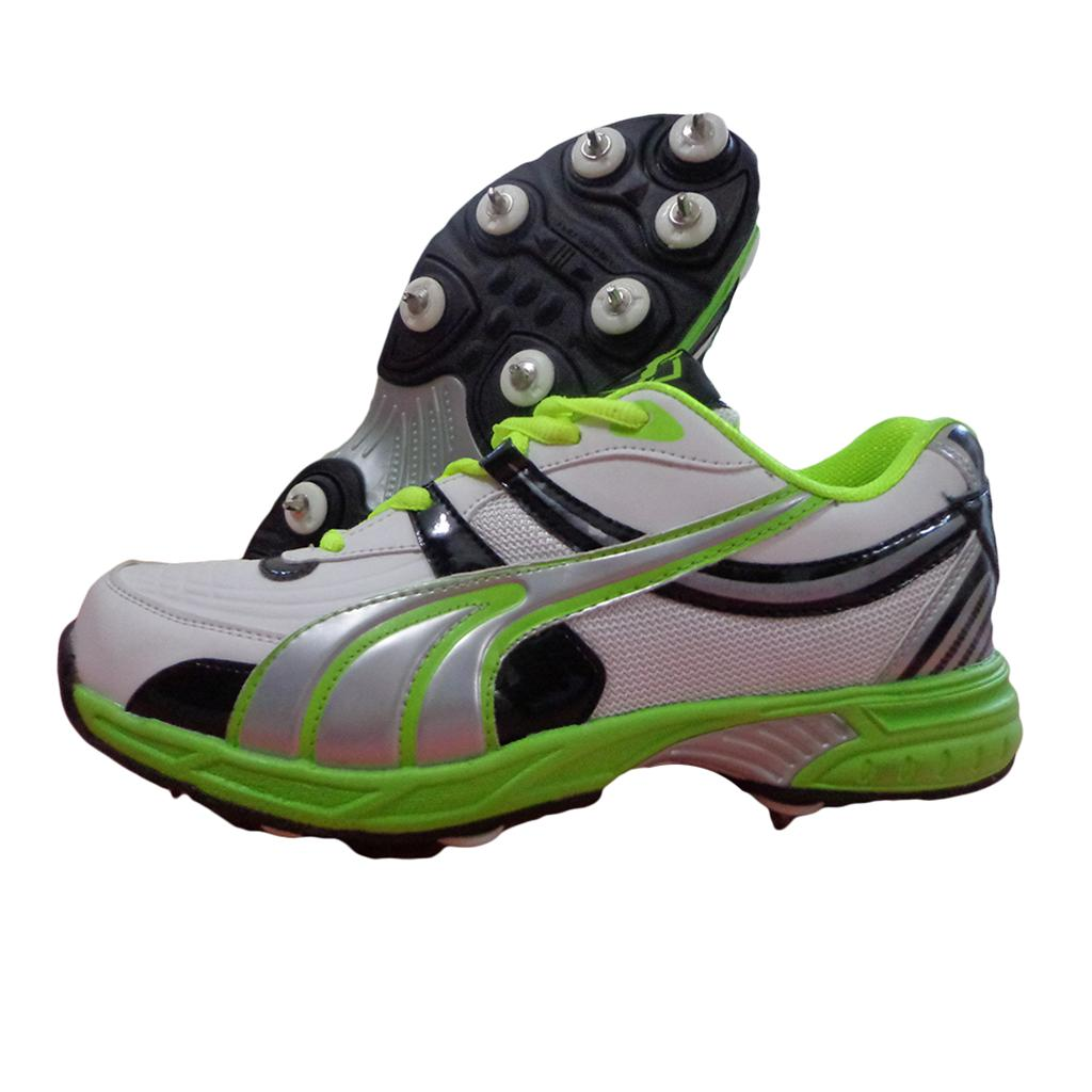 Gravity Full spike Cricket Shoes Green