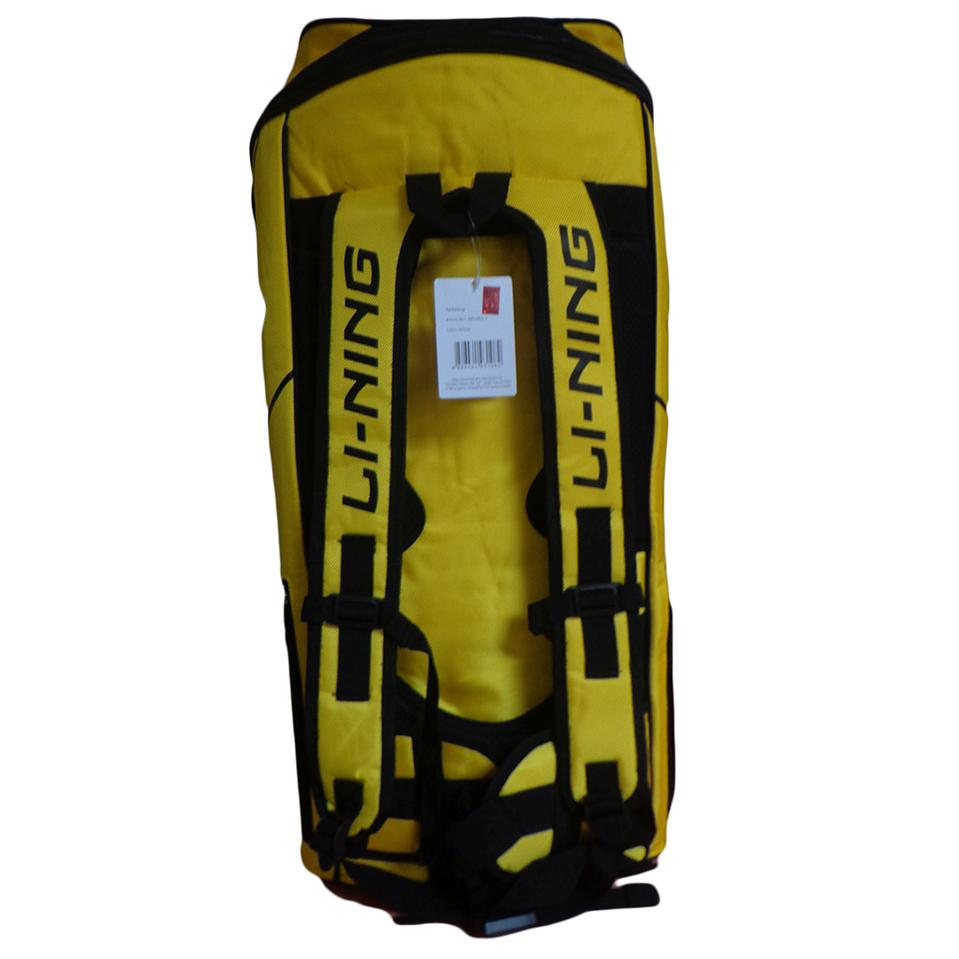 Lining Absj402 Badminton Kit Bag Yellow And Silver Color