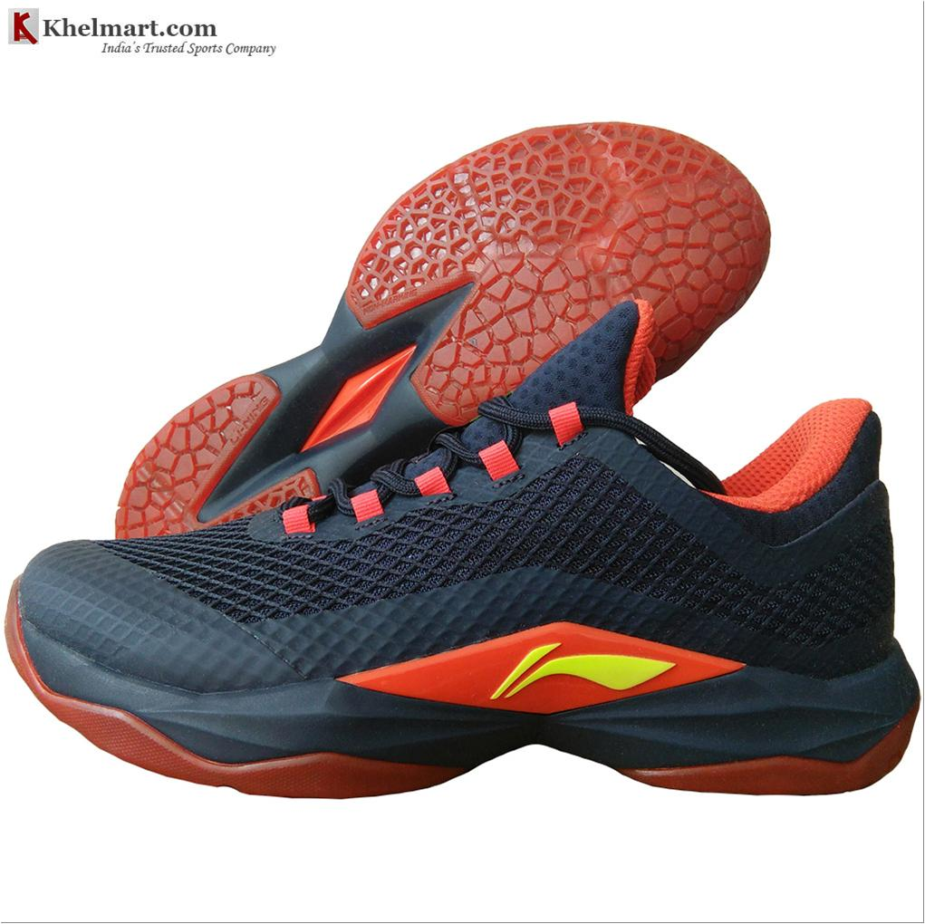 f1ff31d5195a LiNing Shadow Of Blade Badminton Shoes Space blue and Bright Egg ...